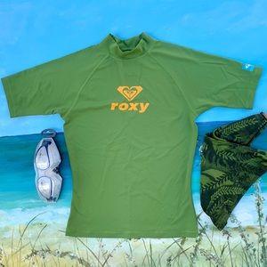 ROXY UV Tech Short Sleeve Rashguard Women's Sz S